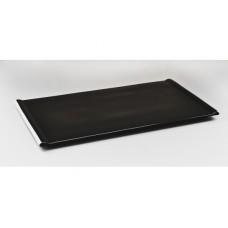 """Тарелка прямоугольная черная 17"""" (43*24см)"""