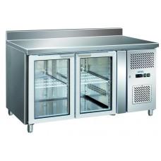 Холодильный стол 2 стеклянные дверцы BERG