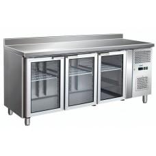 Холодильный стол 3 стеклянные дверцы BERG