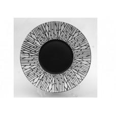 """Тарелка круглая  матово-глянцевая с рисунком """"белый бамбук"""" 10"""" (25,4см)"""