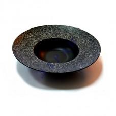 """Тарелка для пасты черная матовая с узором 12"""" (30,5см)"""