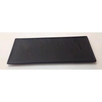 Тарелка прямоугольная узкая черная матовая 36*15,5 см