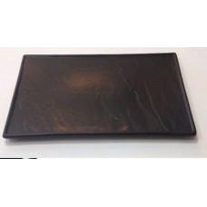 """Тарелка прямоугольная черная матовая 12""""  (31*17,5см)"""