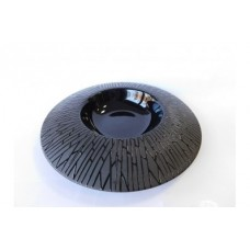 "Тарелка для пасты матово-глянцевая с рисунком  ""черный бамбук"" 11"" (28см)"