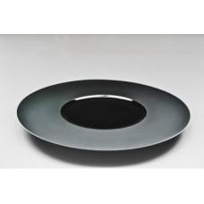 """Тарелка круглая черная плоская (матовая) 12"""" (31см)"""