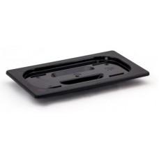 Крышка для гастроемкости из черного поликарбоната GN
