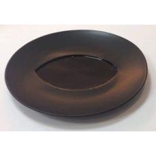 """Блюдо круглое черное 12"""" (30,5см)"""