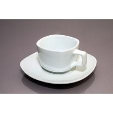 Чашка с блюдцем квадратная (180мл)