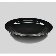 "Тарелка круглая черная 10"" плоская (25,5см)"