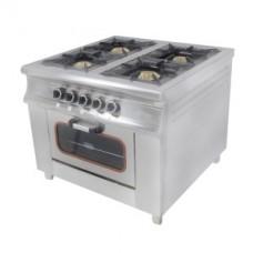 Плита газовая с духовым шкафом Pimak M015-4B
