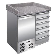 Стол холодильный для пиццы с гранитной столешней GGG PZ4001