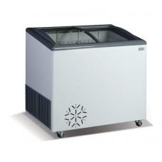 Морозильный ларь со стеклянной гнутой крышкой Crystal ВЕНУС 26 SGL
