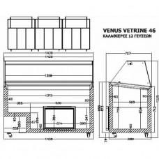 Витрина для твердого мороженого Crystal Venus Vetrine 46