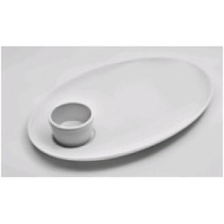 """Блюдо для стейка с соусником 13"""" (33*23см, 80мл)"""